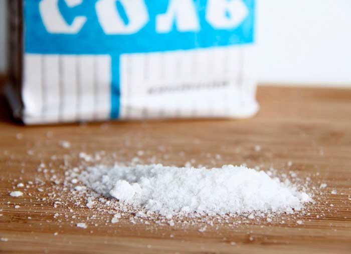 Выведение пятна с помощью соли